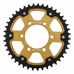 New Supersprox Stealth Sprocket, 43t For Marvic 530 Pitch 6 Bolts 00, Gold