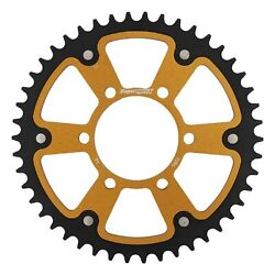 New Supersprox Stealth Sprocket, 46t For Marvic 520 Pitch 6 Bolts 00, Gold