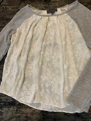 Sundance Catalog A Sunday In Brooklyn Lace And Delicate Thermal Ls Tunic L Nwot