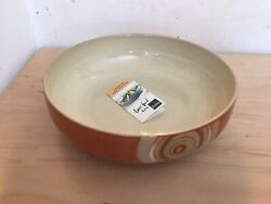 Denby Bowl Pasta Serving Bowl 9 5/8 Inches Fire Chilli Chili Discontinued
