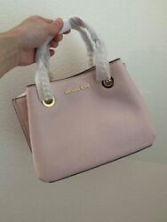 Michael Kors Teagen Leather Small Satchel Messenger Purse Handbag $75.00