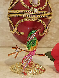 Wife Mom Mother Grandma Faberge Musical Jewelry Box Gift And Her Ruby Bracelet 24k