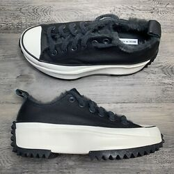 Womenandrsquos Converse Star Hike Ox Low Black White Cozy Club Leather Multi Size