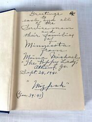 Rare 1941 The Miracle Flower Moina Michael Poppy Lady Book Signed Athens Ga