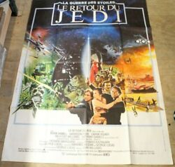 Vintage 1983 Star Wars Return Of The Jedi French Grande Poster 62x46 115a