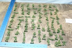Vintage Lot Of 72 Us Army Mpc Green Plastic Soldiers 1960's 116a