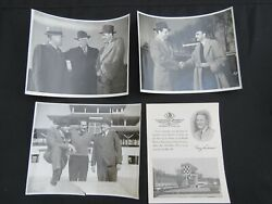Lot Of 3 Indy 500 Original Photos 1940's By Charles Bell - Auto Racing + Program