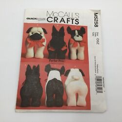 Mccall's M5258 Parlor Pets Pattern Pug Scottish Boston Terrier Discontinued