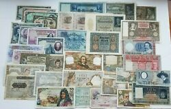 Huge Collection From Europe Asia America Circulated Near 75 Banknotes Rare