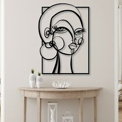 Shelby Metal Wall Art Home Decor Office And Outdoor Design Emma Wall Sculpture