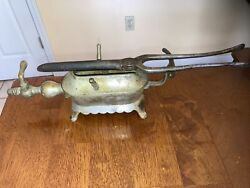Antique Gas Hair Curling Iron And Burner Heater Victorian