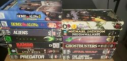 Lot Of 13 80s Vhs Tapes Star Wars Home Alone Ghostbusters Lost Boys Rambo Aliens