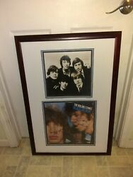 Rare The Rolling Stones Signed By All Band Members Autograph Record Certificate