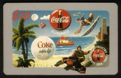 Coca-cola And03995 Rare 10. Always Summer And039coke Adds Lifeand039 Hawaii Xi Show Phone Card