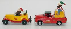 Ertl Coca Cola Ford Roadster And Chevy Pickup North Pole Bottling Works Nib 143 S