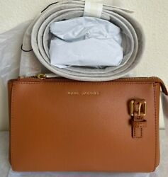 NWT Marc Jacobs Commuter Crossbody Bag $225 SMOKED ALMOND Original Packaging