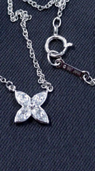 And Co Victoria Diamond Necklace Small Pt950 Used