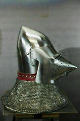 Medieval 18 Guage Steel Armor Pig Face Knight Helmet Warrior Roleplay Costume