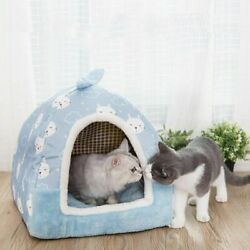 Removable Cat Bed House Kennel Nest Litter Yurt Shape Pet Products For Small Dog