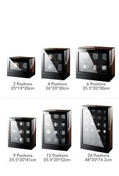 Watch Winder For Automatic Watches Wooden Box Watch Case Storage Boxes 2 - 24