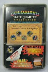 New Sealed 1999 Colorized State Quarter Collection Extremely Limited Edition H6