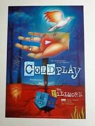 Coldplay Fully Signed Original 2005 Fillmore Concert Poster Parachutes Xandy Blood
