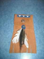 Beaded Bison Buffalo Medicine Tobaco Amulet Pouch First Nations American Indian