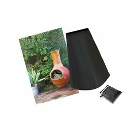 Flr Patio Chiminea Cover Black Outdoor Fire Pit Cover Outdoor Waterproof Dust...