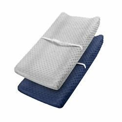 Changing Pad Cover - Babebay Ultra Soft Minky Dots Plush Changing Table Cover...