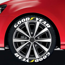 Goodyear Permanent Tire Lettering Sticker 1.38 15-24 Decal 8 Kits