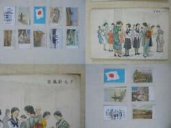 Imperial Japanese Army Military Mail Picture Postcard Set Antique From Japan