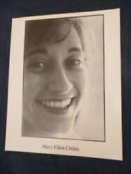 Vintage Glossy Music Promo Press Photo Mary Ellen Childs Classical Singer