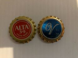 Vintage Calgary Brewery Bottle Caps - Old Vienna And Alta 3.9 - Uncrowned - Rare