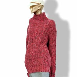 Hermes Unisex Fuchsia Tricot Cashmere Oversized Chunky Cable Knit Sweater Xxl