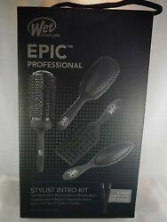 ☆ Wet Brush Epic Pro Stylist Intro Kit - With 4 Brushes And 2 Combs ☆
