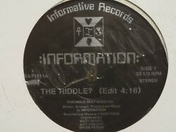 :INFORMATION: #x27;the riddle#x27; #x27;83 informative sealed 1 ea