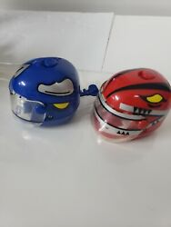 Mighty Morphin Power Rangers Helmet Racers Red And Blue Rangers 1990s 90s...