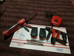 Hilti Te6-a 36v Lithium Ion Cordless Rotary Hammer Kit With Big Batteries+more