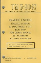 Historical Book For Trailer, 4 Wheel, 10 Ton, Model 4 D-t, Operator/maint,parts