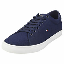 Essential Knit Vulc Mens Yale Navy Textile Casual Trainers