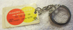 Vintage Master Charge The Interbank Credit Card Mastercard Keychain