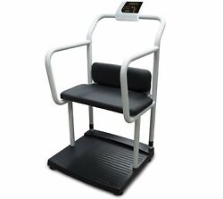 Rice Lake 168448 1000lb X 0.2lb, 250-10-4bt Scale With Handrail And Chair Seat