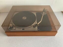 Rare Vintage Thorens Td 124 12inch Console With Plexi Hood Used