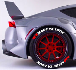 Tire Letters 1.25 Made Ya Look W/red Flags 15161718 19 20 21 22