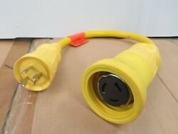New Hubbell Boat Shore Power Adapter 30a - 50a 125v Yellow Hbl61cm56