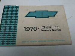 1970 Original 2nd Edition ,chevelle/ Ls 6 Owners Manual
