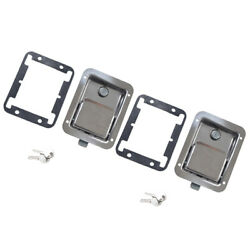 2pcs Marine Stainless Steel Paddle Latch Truck Doors Lock Latch Toolboxes Rv