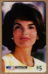 5. Jackie Kennedy Close-up Portrait And039cherished Jackieand039 Color Proof Phone Card
