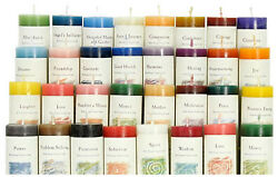 Crystal Journey Herbal Pillar Candle Reiki Charged 1.5 Inches Dia. By 7 Inches