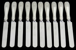 And Co Colonial 10 Sterling Silver 9 1/4 Dinner Knives
